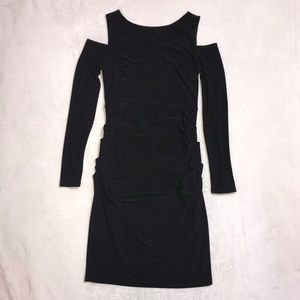 Bodycon Dress with Cut Out Shoulders